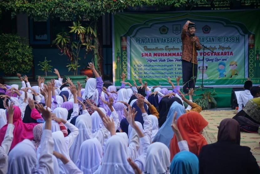 Pengajian dan penutupan program Mubalig Hijrah SMA Muhammadiyah 1 Yogyakarta.