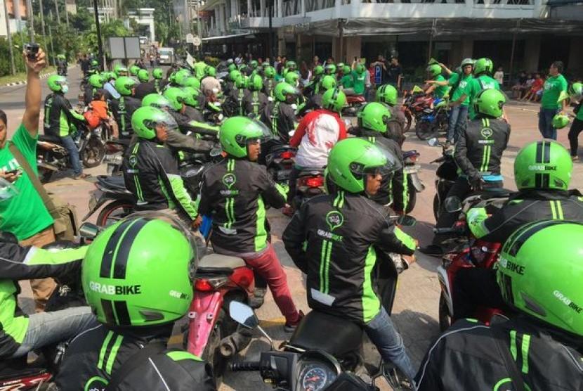 Pengemudi Grabbike (ilustrasi)