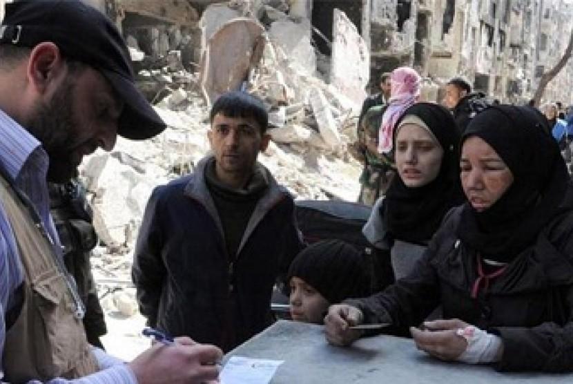 penghuni camp Yarmouk dalam cengkeraman ISIS.