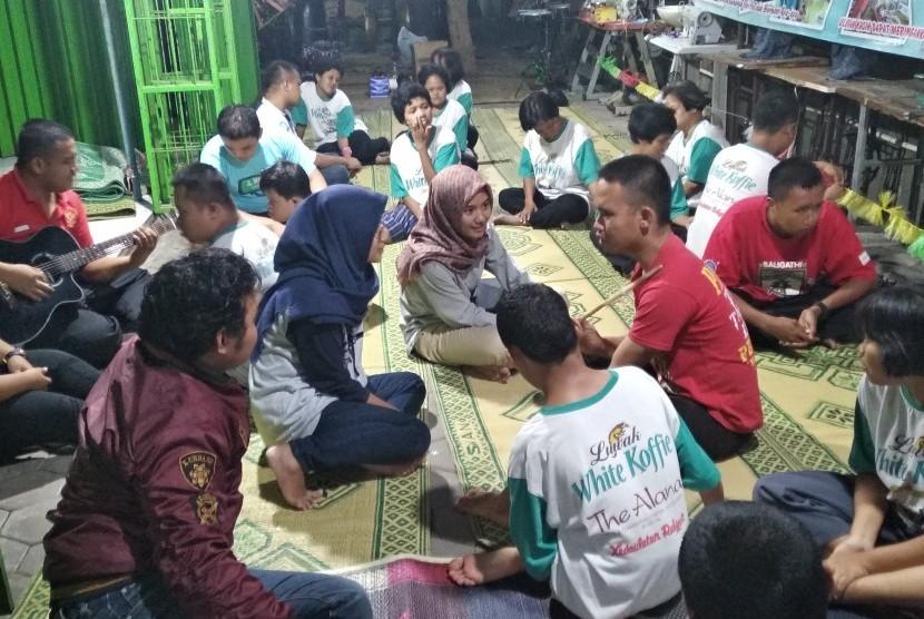 Pengujian alat pemicu sensor motorik anak ADHD di Fakultas Ilmu Keolahragaan Universitas Negeri Yogyakarta (UNY).