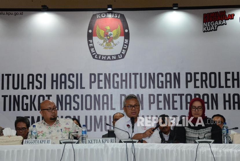 Pengumuman Hasil Rekapitulasi Nasional.