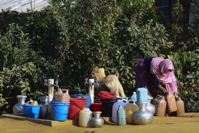 Pengungsi perempuan Rohingnya.