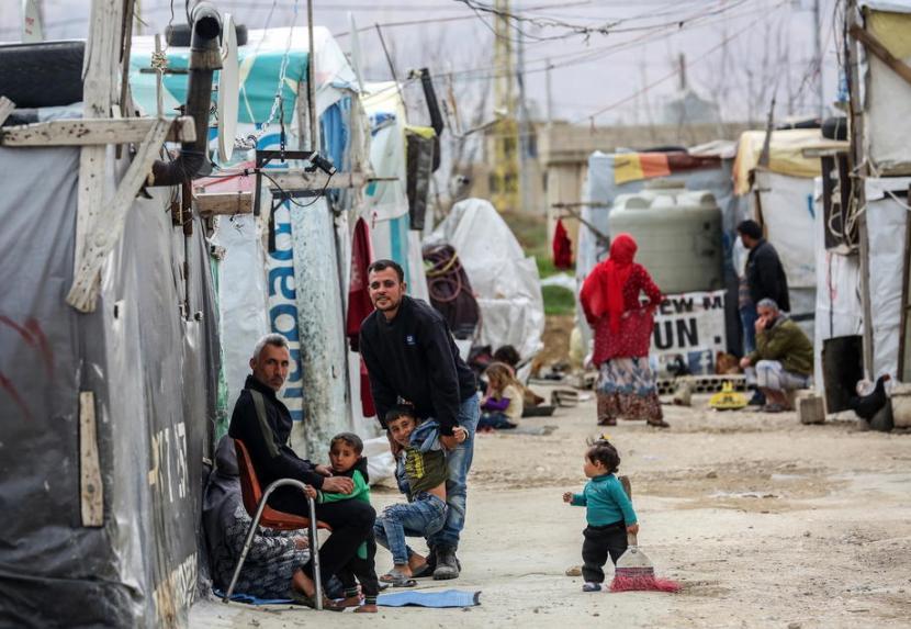 Pengungsi Suriah hidup dalam keadaan kumuh dan khawatir terjangkit virus corona. Ilustrasi.