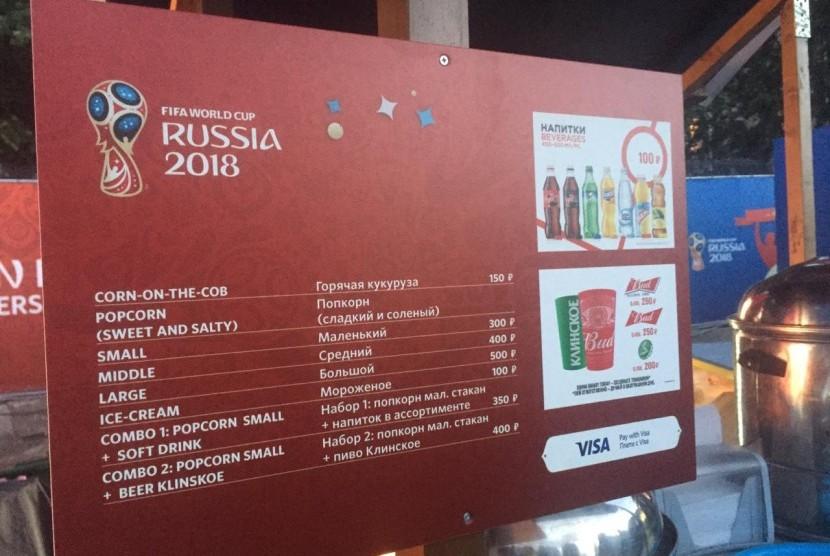 Penjual jagung rebus di Piala Dunia Rusia