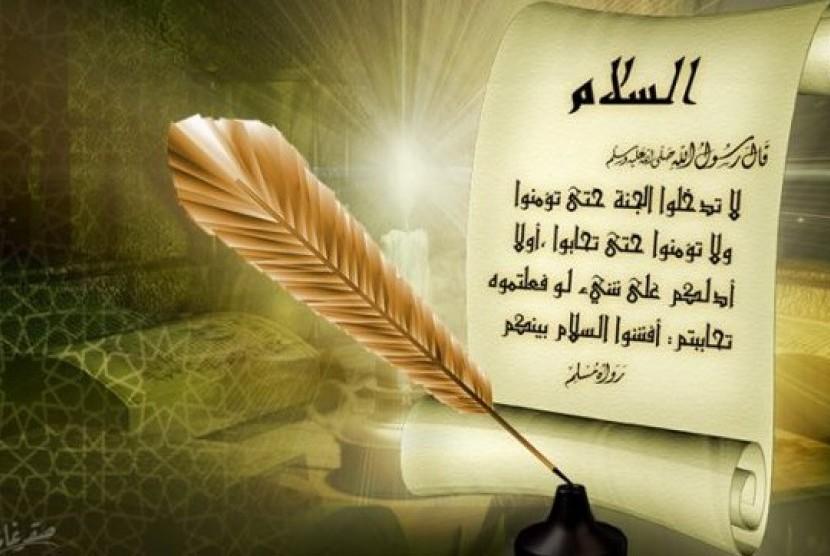 Penulisan hadis (ilustrasi).