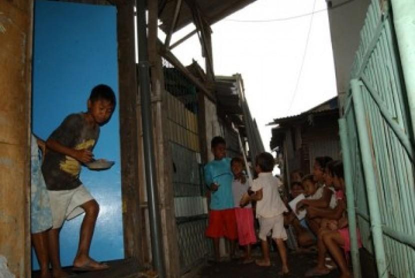 Penduduk miskin (ilustrasi)