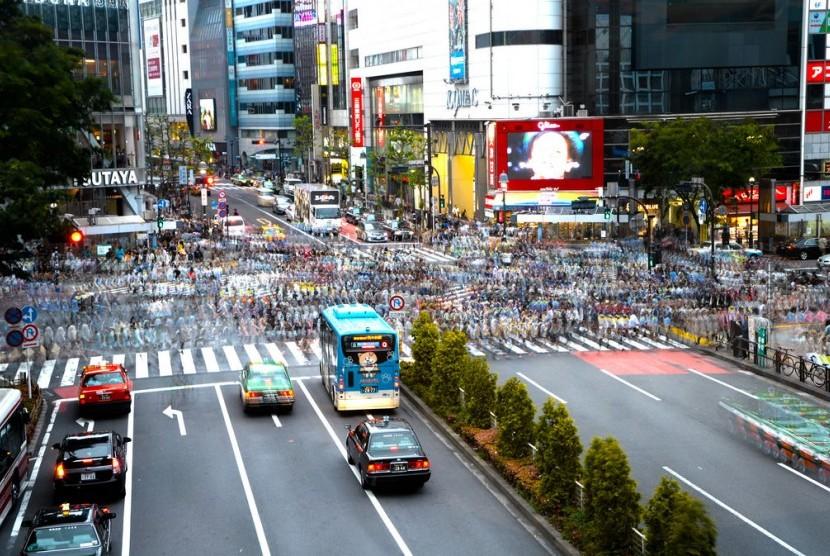 Penyeberangan Shibuya Tokyo.