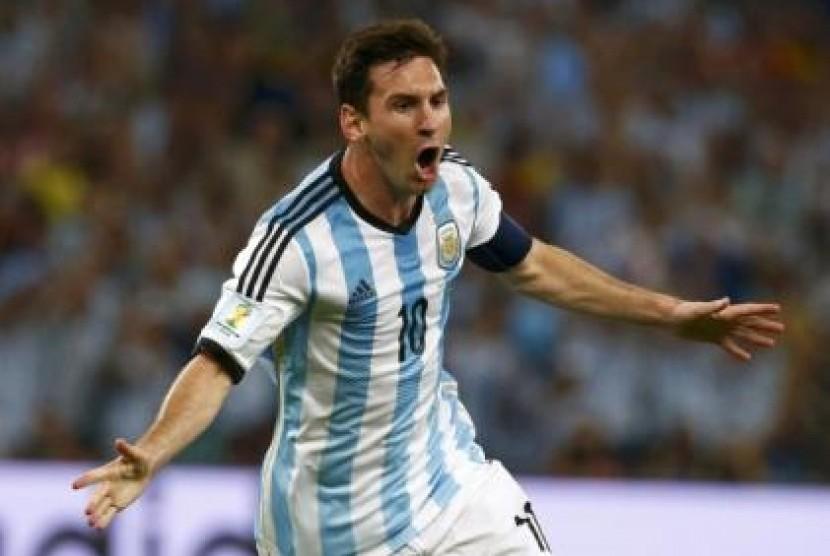 Penyerang Argentina, Lionel Messi