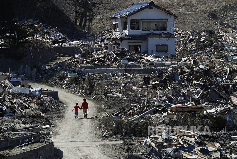 6 Tahun Tsunami Sendai Jepang | Republika Online