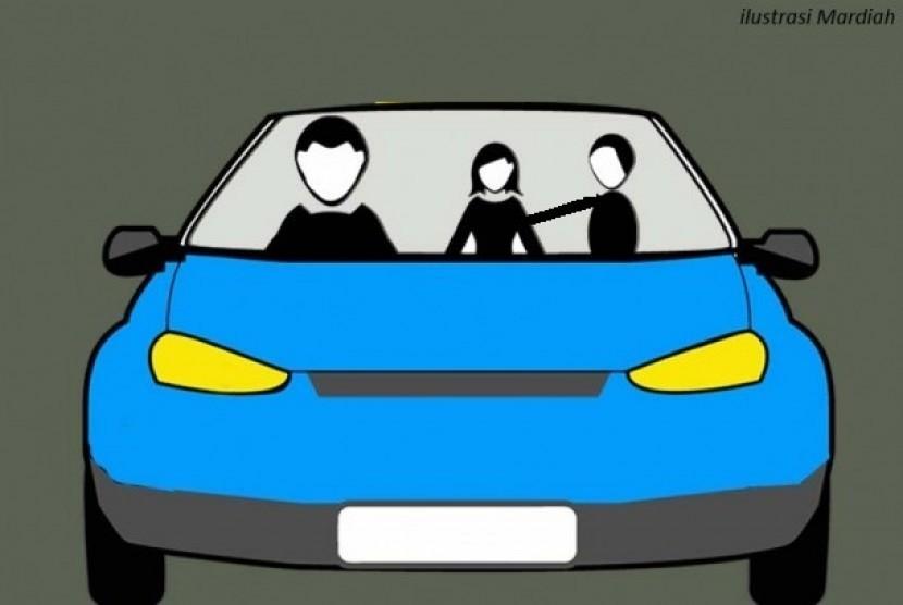 Penjambretan di mobil (ilustrasi).