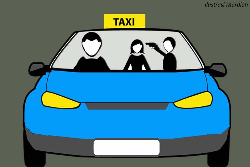 Perampokan di Taxi (ilustrasi).