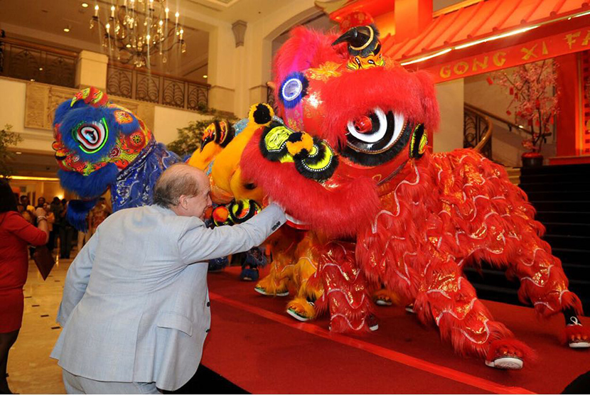 Perayaan Imlek di Teratai Chinese Restaurant yang berlokasi di Hotel Borobudur Jakarta.