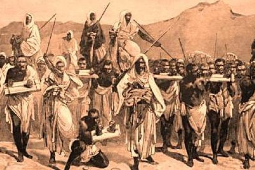 Perbudakan zaman jahiliyah (ilustrasi).