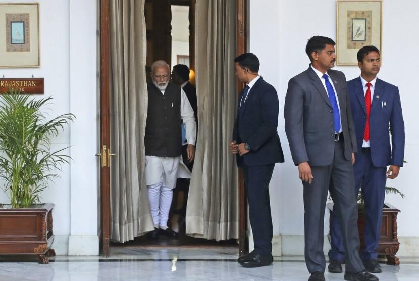 Perdana Menteri India Narendra Modi di New Delhi, Selasa (5/2).