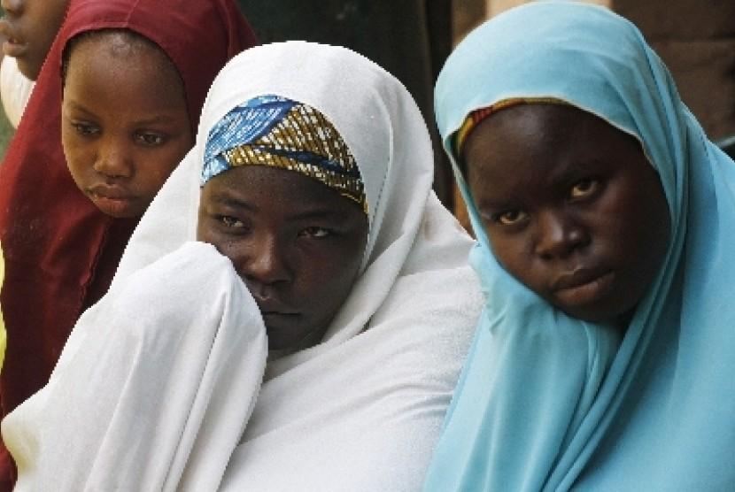 Perempuan Nigeria menjadi korban kejahatan kelompok Boko Haram.