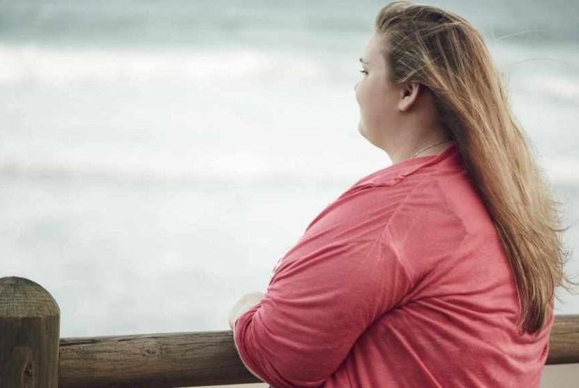 Perempuan obesitas (ilustrasi)