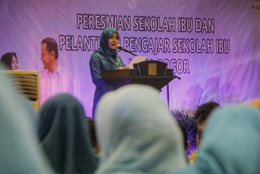 Peresmian Sekolah Ibu di Kota Bogor, Selasa (17/7).