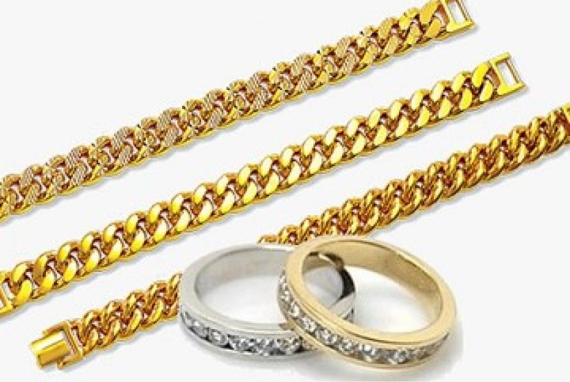 Perhiasan emas (ilustrasi)
