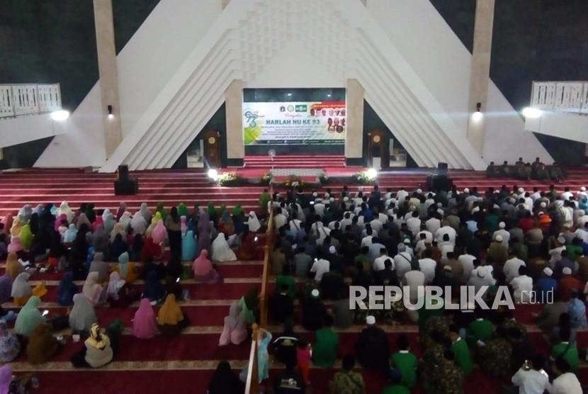 Peringatan Harlah ke-39 NU di Masjid Raya Hasyim Asyari, Jakarta Barat, Kamis (31/1/2019) malam.