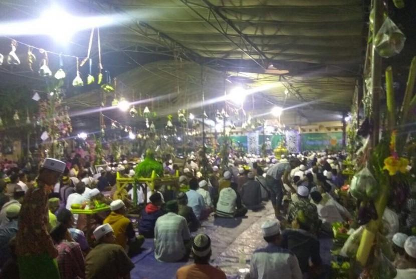 Peringatan Maulid Nabi Muhammad di Pondok Pesantren (ilustrasi)