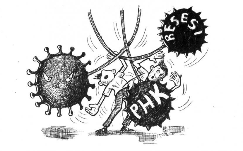 Perjuangan menghadapi resesi ekonomi dan PHK (ilustrasi)