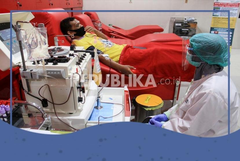 Penyintas Covid-19 mendonorkan plasma konvalesen (ilustrasi)