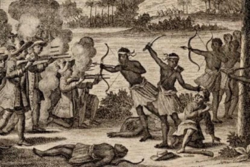 Perlawanan rakyat Ternate. (Foto koleksi DR Muridan: Sampul buku tentang perjuangan Sultan Nuku)