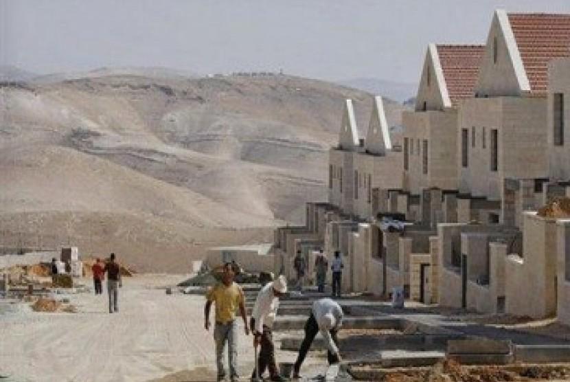 Permukiman Yahudi di Tepi Barat. (ilustrasi)