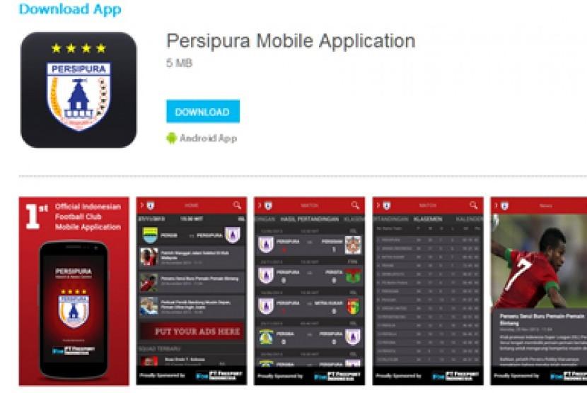 Persipura memiliki aplikasi mobile untuk berbagi informasi seputar klub.