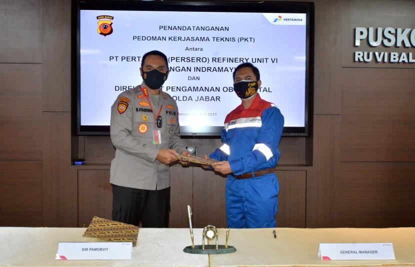 Pertamina RU VI Balongan menjalin kerja sama pengamanan dengan Polda Jabar.