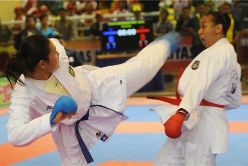 Pertandingan karate (ilustrasi)