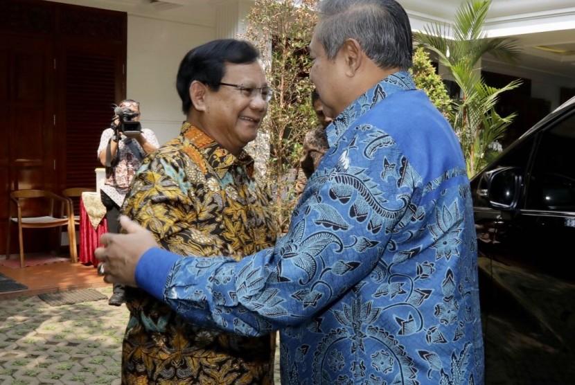 Pertemuan balasan SBY ke Prabowo, Senin (30/7).