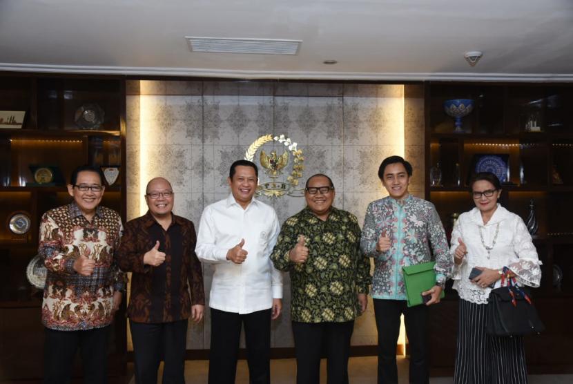 Pertemuan Ketua DPR RI Bambang Soesatyo dan perwakilan ICMI.