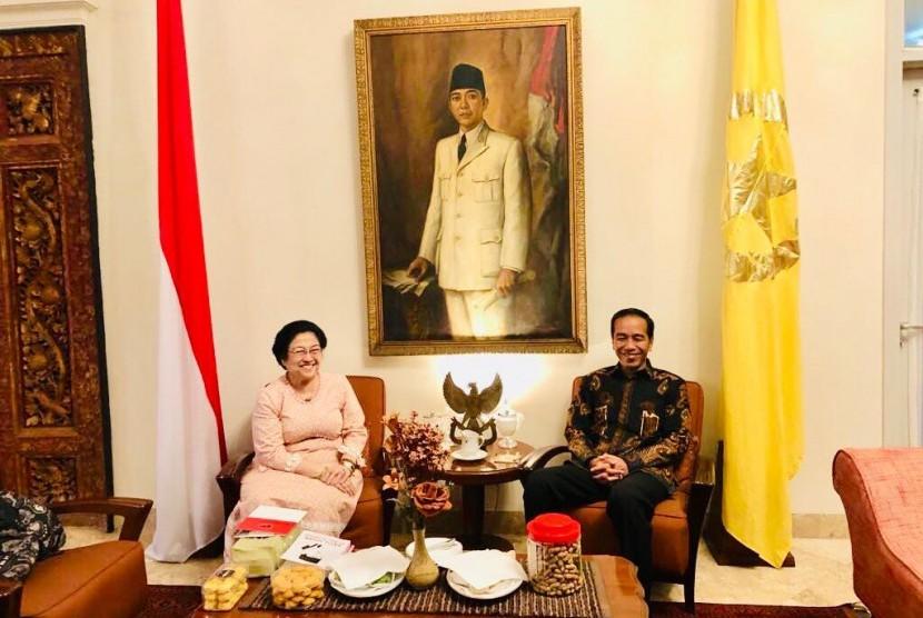Pertemuan Megawati dan Jokowi di Istana Batu Tulis, Bogor, Jawa Barat, Selasa (12/6).