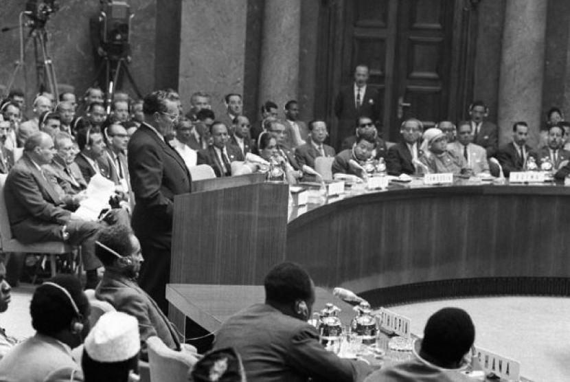 Pertemuan para pemimpin Gerakan Nonblok pertama di Beograd Yugoslavia