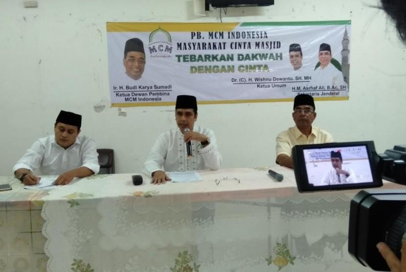 pertemuan PB MCM dengan para pengurus masjid yang digelar di Masjid Cut Meutia, Jakarta, Rabu (21/2).