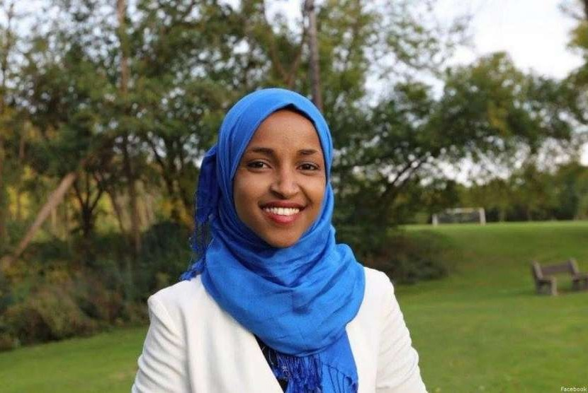 Perwakilan negara bagian Minnesota dan Muslim kelahiran Somalia, Ilhan Omar.
