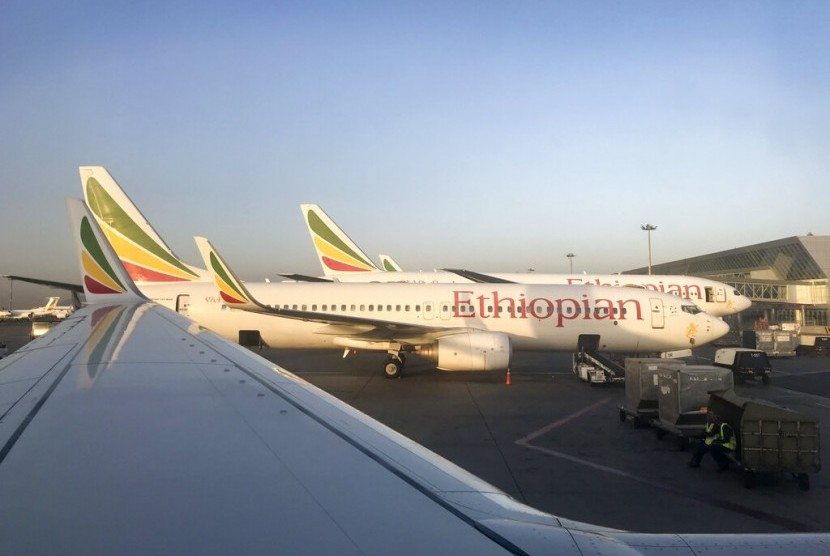 Pesawat Ethiopian Airlines.