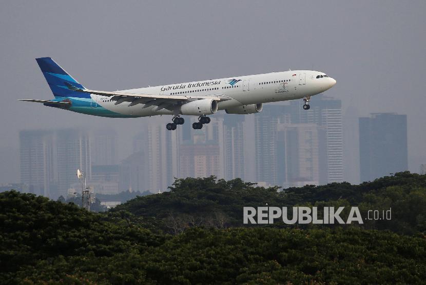 Pesawat Garuda Indonesia (ilustrasi)