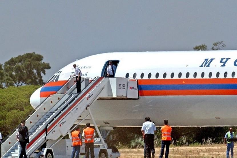 Pesawat Ilyushin 62. (ilustrasi)