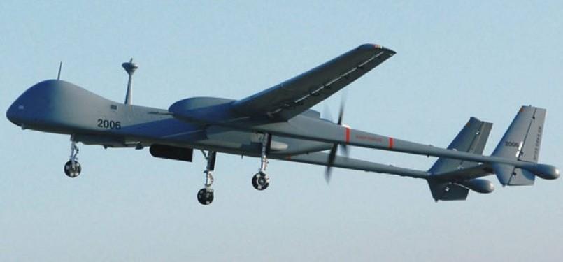 Pesawat pengintai Israel.