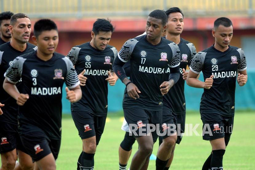 Madura United Siapkan Laga Uji Coba Lawan Tim Liga 3 (ilustrasi).