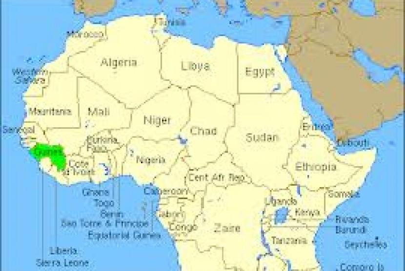 Peta Afrika