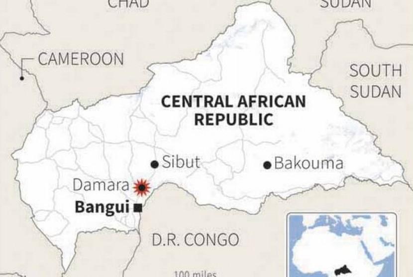 Peta Afrika Tengah