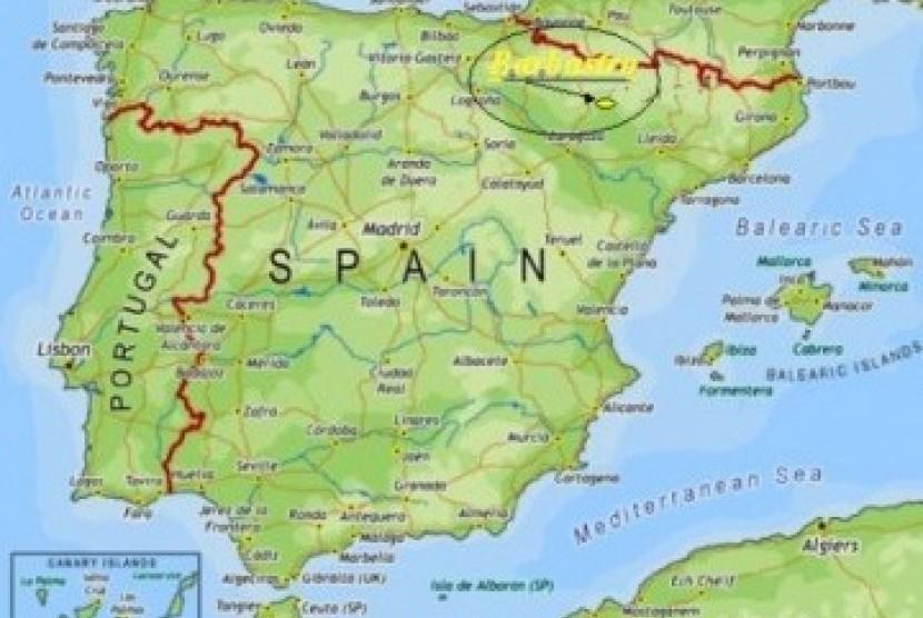 Peta Spanyol.