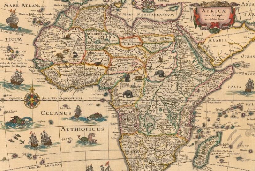 Peta Benua Afrika.