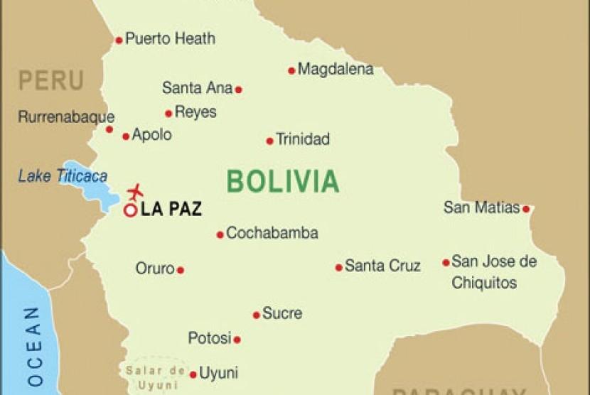 Peta Bolivia