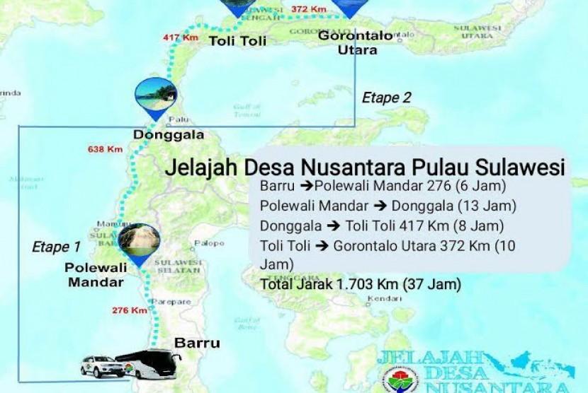 Peta Jelajah Desa Nusantara.