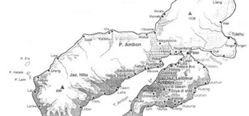 Peta Kota Ambon (ilustrasi)