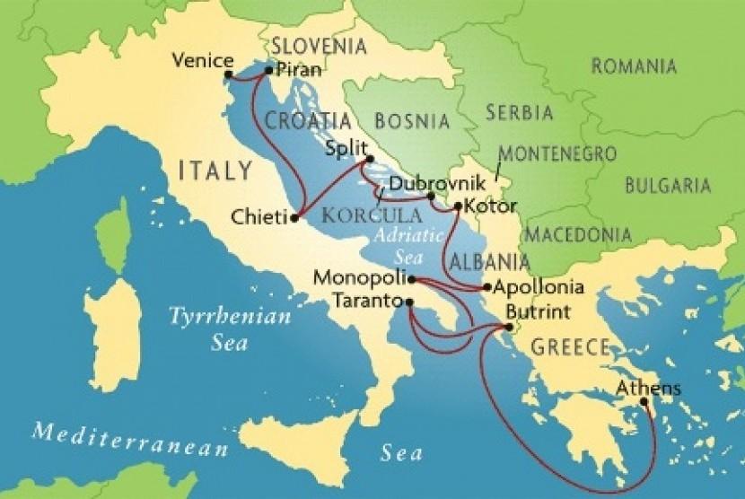 Peta Laut Adriatik
